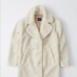Pink Abercrombie Teddy Coat